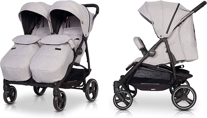 Carritos de bebe Domino Twin - 2020 Carrito gemelar